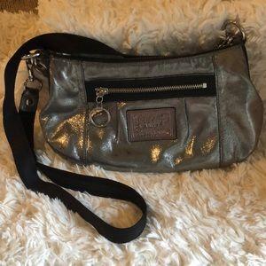 Silver Metallic coach purse